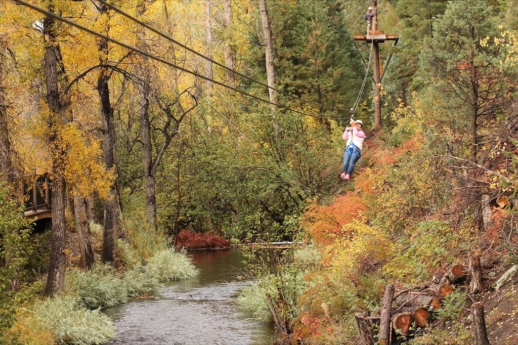 Fall Ziplining in Colorado
