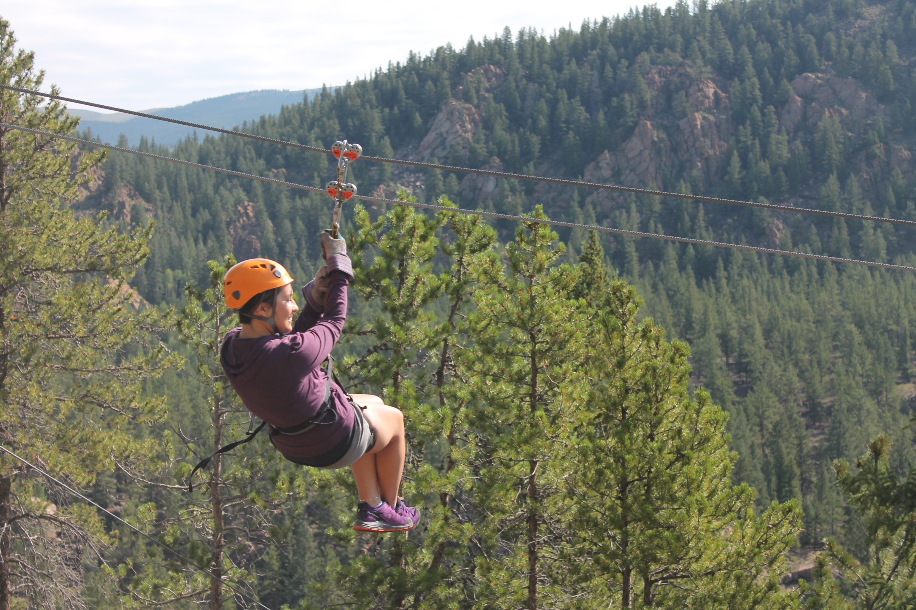 Ziplining in Buena Vista Colorado