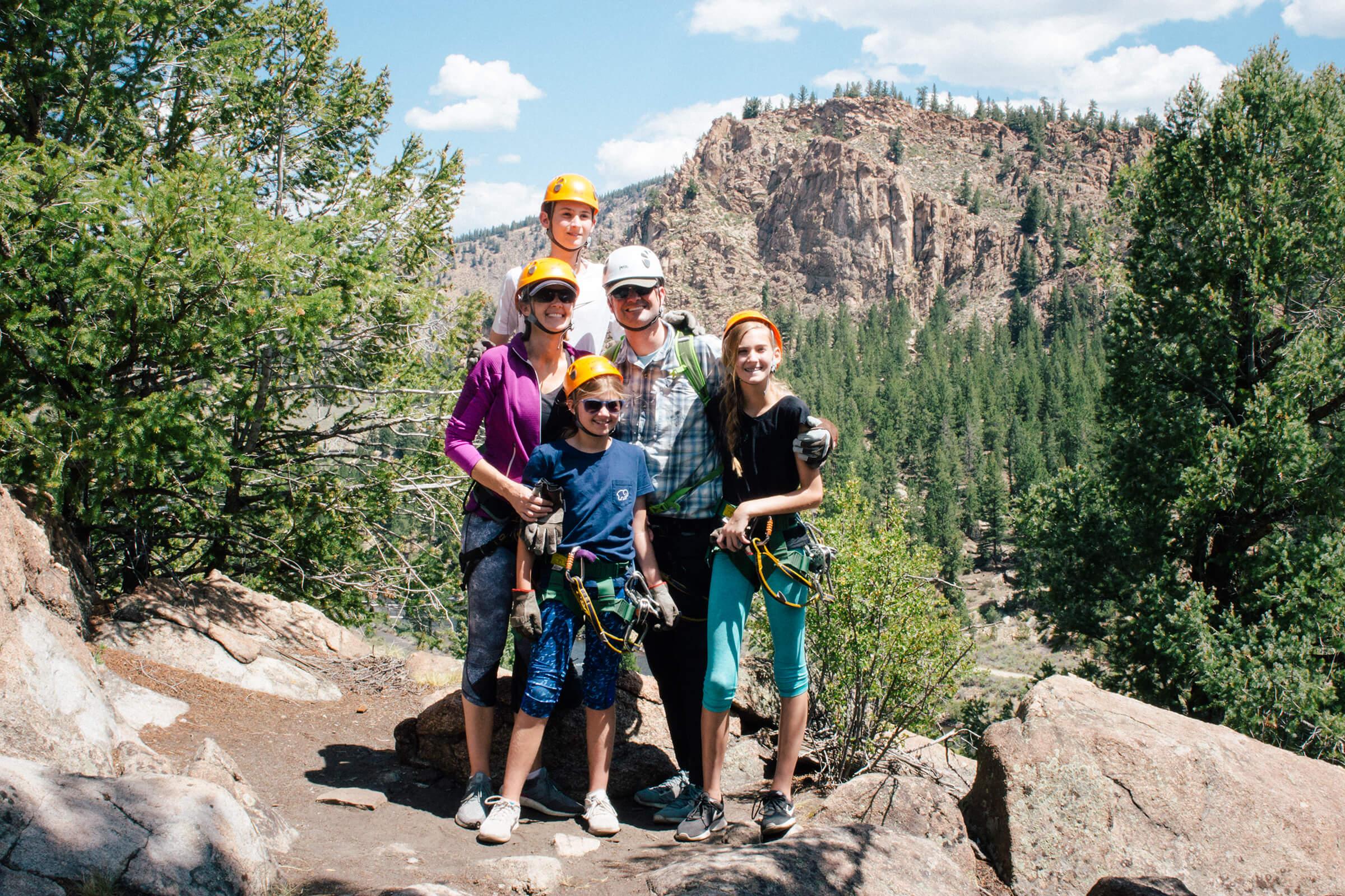 Family Zipline in Colorado